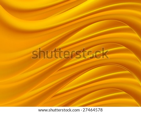orange dynamic waves on movement. abstract illustration