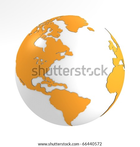 Orange earth - stock photo