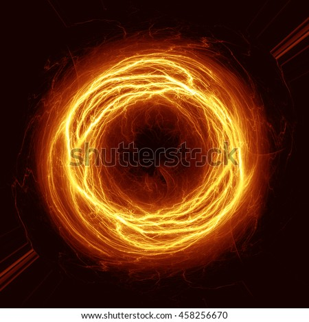 Orange electrical fire ball