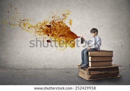 Orange explosion  - stock photo
