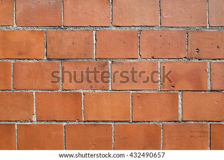 Orange Exterior Brick Wall