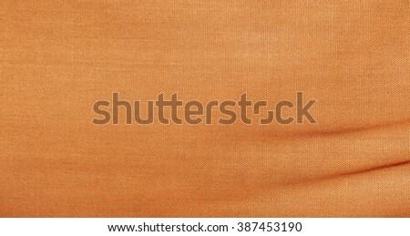 Orange fabric cloth texture - stock photo