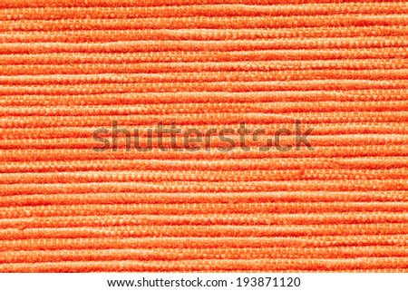 Orange fabric texture - stock photo