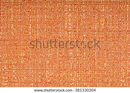 orange fabric texture background - stock photo