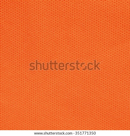 Orange fabric texture for background