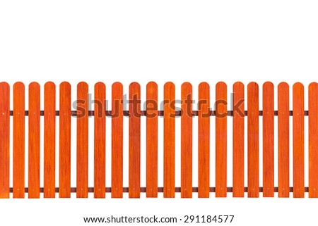 Orange fence isolated with clipping path