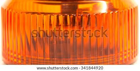 Orange flasher detail - stock photo