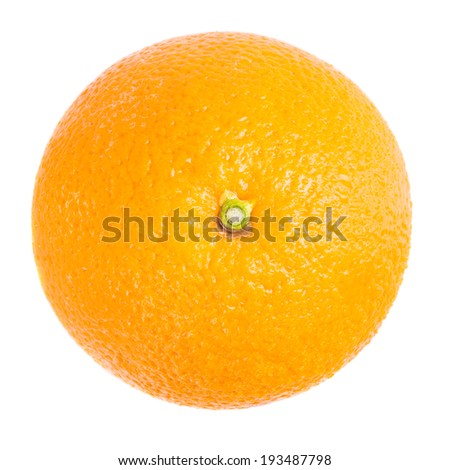 Orange from top view - stock photo