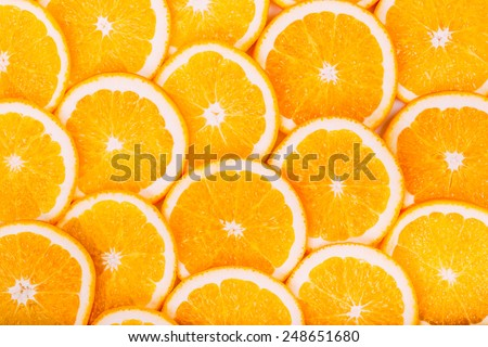 Orange Fruit Background. Summer Oranges. Healthy Food Concept - stock photo