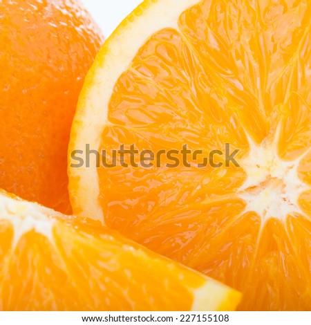 orange fruit, close up image texture background - stock photo
