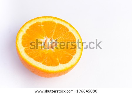 orange fruit , fresh and juicy