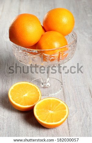 Orange Fruit in Glass Bowl