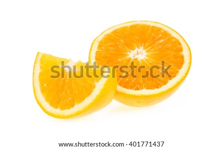orange fruit isolated on write background