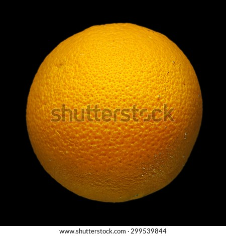 Orange fruit on black background - stock photo