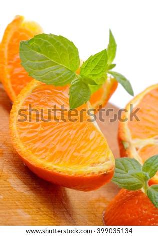 Orange fruit.Ripe, juicy citrus fruits. - stock photo