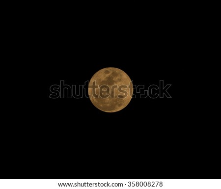 Orange full-moon in the month of December