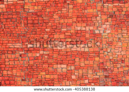 orange glass mosaic texture as nice background - stock photo