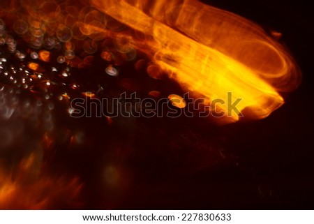 orange golden background blur bokeh texture drops