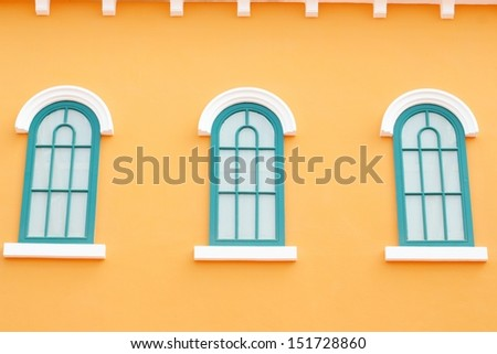 Orange greek style window.