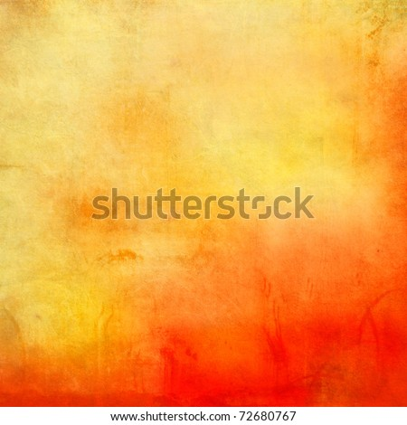 Orange grunge background - stock photo