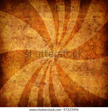 orange grunge background with sun rays for multiple uses