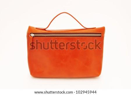 Orange Handbag - stock photo