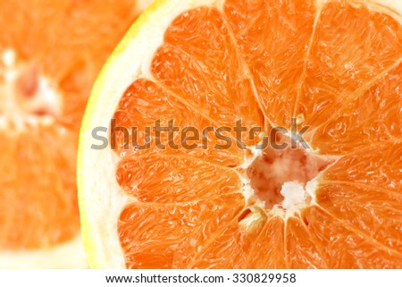 Orange in cut