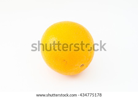 orange in white background and isolated