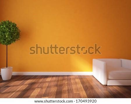 orange interior  - stock photo