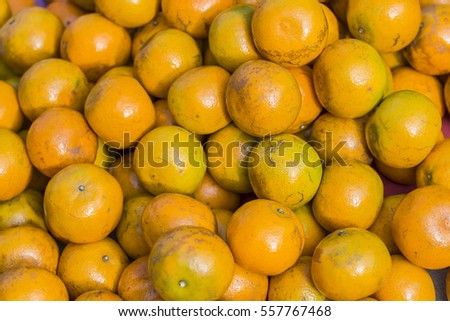 orange is a type of citrus fruit which people often eat.Oranges are a very good source of vitamins