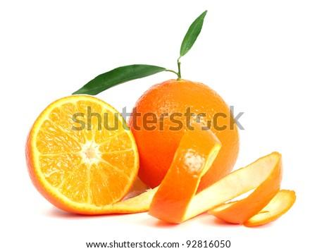 Orange isolated - stock photo