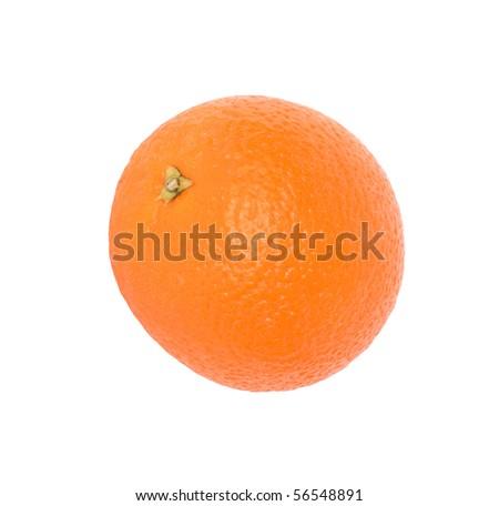 orange isolated on the white background - stock photo