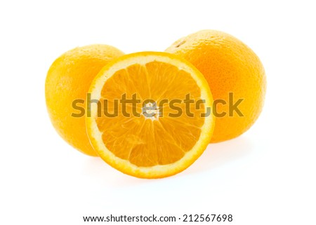Orange isolated on white