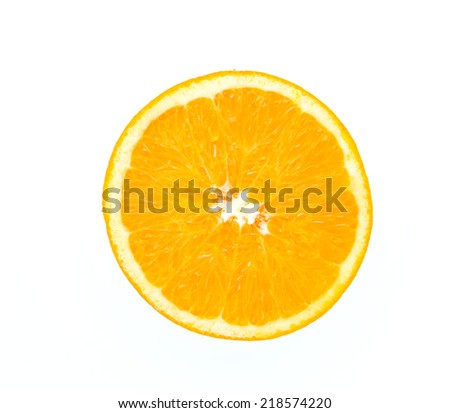 Orange isolated on white - stock photo