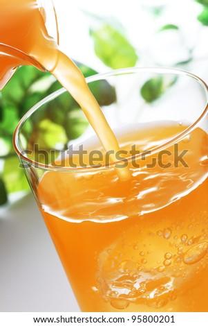 Orange juice. - stock photo