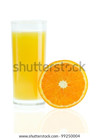 orange juice and orange