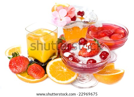 orange juice and strawberry