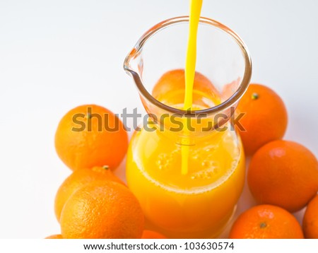 Orange Juice being poured - stock photo