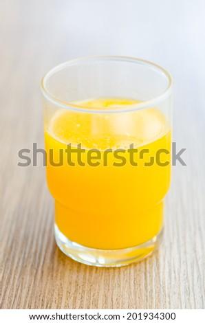 Orange juice glass - stock photo