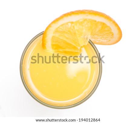 Orange juice in highball glass. - stock photo
