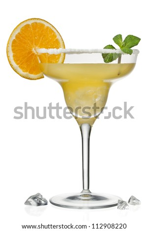 Orange juice in martini glass