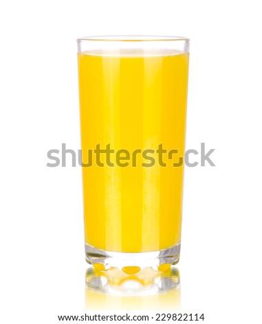 Orange juice, isolated on white - stock photo