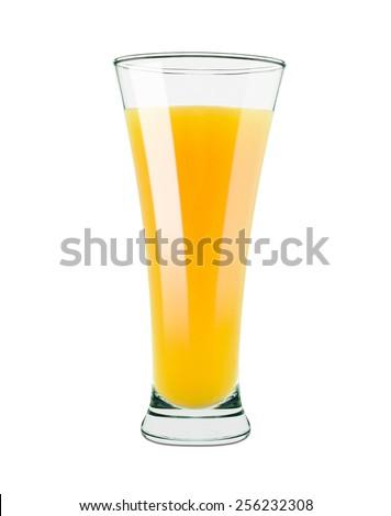 orange juice isolated on white - stock photo