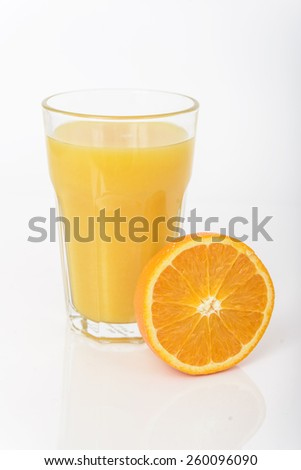 Orange juice isolated on white background - stock photo