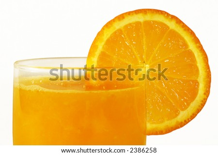 Orange juice isolated with clipping path
