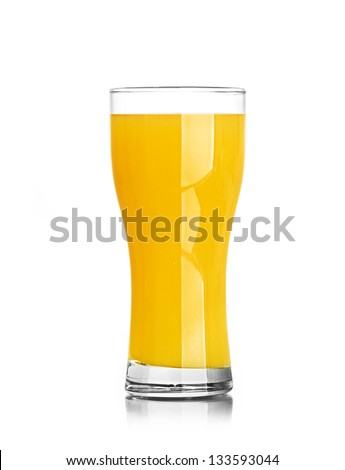 orange juice splash isolated on a white background - stock photo