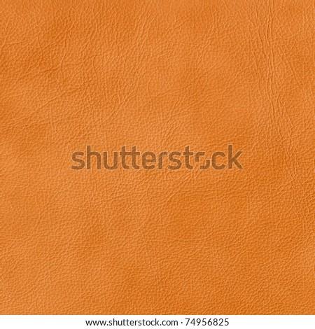 orange leather - stock photo