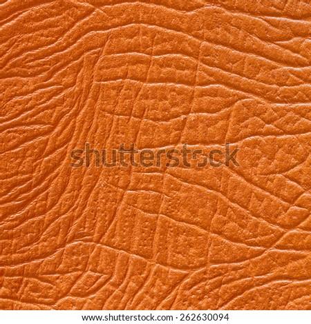 Orange Leather Background/ Orange Leather - stock photo