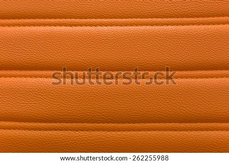 Orange leather for texture background from Office Chair - stock photo