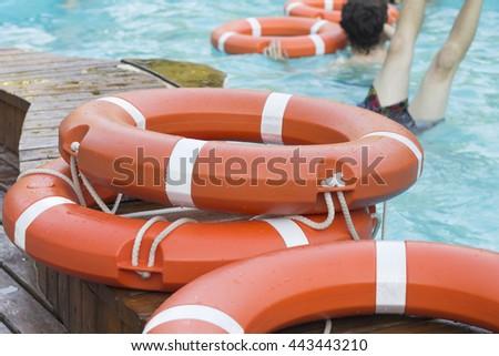 Bright Orange Life Rings Lay On Stock Photo 2517348 Shutterstock